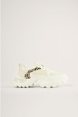 NA-KD Naiset Tennarit - Tennarit Leopardidetaljeilla - White