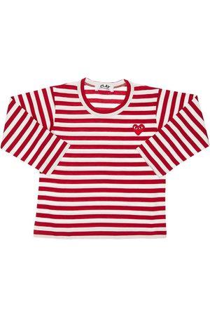 Comme des Garçons Pojat T-paidat - Striped Cotton Jersey T-shirt