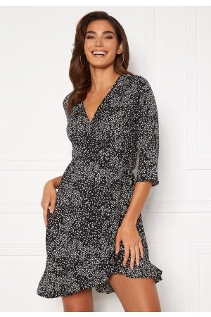 Vero Moda Henna 3/4 Wrap Dress Black S
