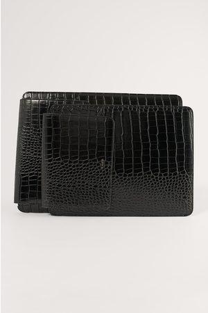 NA-KD Crocit Tietokonekotelo - Black