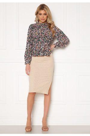 ONLY Naiset Midihameet - Nella Slit Skirt Pumice Stone XL