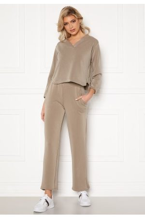 Pieces Naiset Leveälahkeiset - Lise HW Wide Pant Cinder M