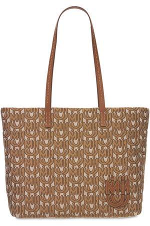 Miu Miu Naiset Ostoskassit - Logo Jacquard Canvas Tote Bag