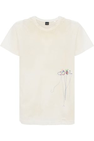 COOL TM Miehet T-paidat - Vintage Distressed & Embroidered T-shirt