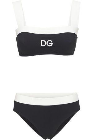 Dolce & Gabbana Naiset Uimapuvut - Bicolor Jersey Bikini Swimsuit