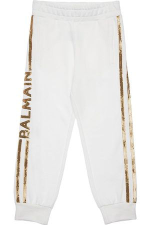 Balmain Tytöt Collegehousut - Sequined Cotton Sweatpants