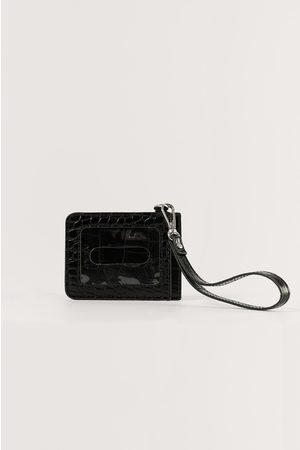 NA-KD Naiset Matkalaukut - Basic Luggage Tag - Black