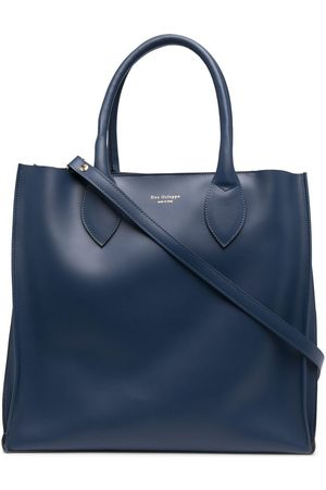 DEE OCLEPPO Engraved-logo leather tote bag
