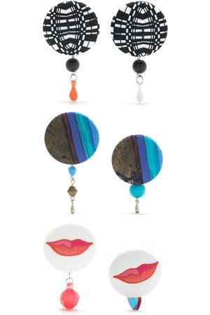 AMIR SLAMA Naiset Korvakorut - 3 pair earring set