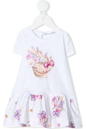 MONNALISA Vauvat Rennot Mekot - Floral-print jersey dress