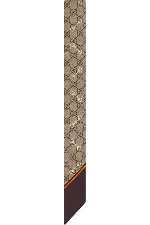 Gucci GG Horsebit silk neck tie