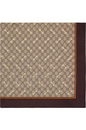 Gucci Naiset Huivit - GG Horsebit-print silk scarf