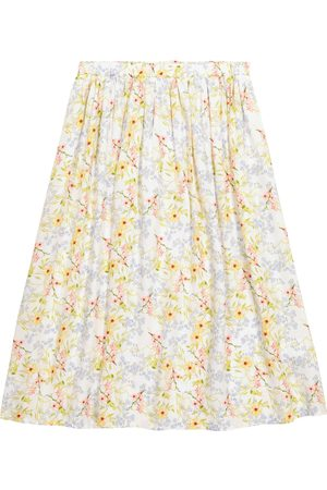 PAADE Viola floral satin skirt