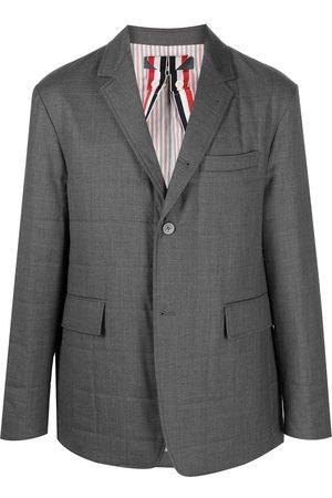 Thom Browne Padded single-breasted blazer jacket