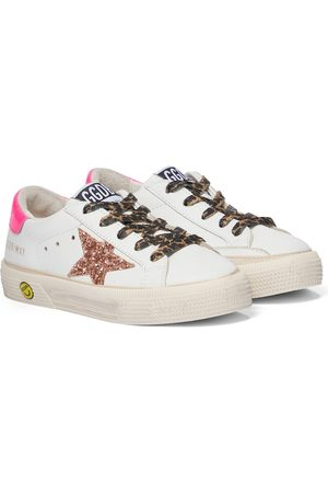 Golden Goose Kids May leather sneakers