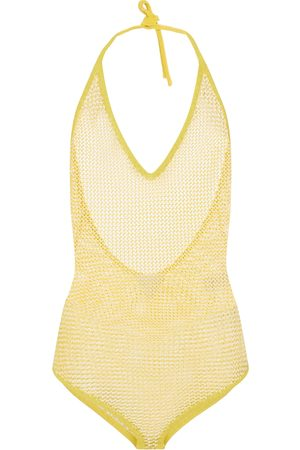 Bottega Veneta Cotton-blend halterneck bodysuit