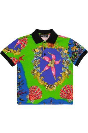 VERSACE Trésor de la Mer cotton piqué polo shirt