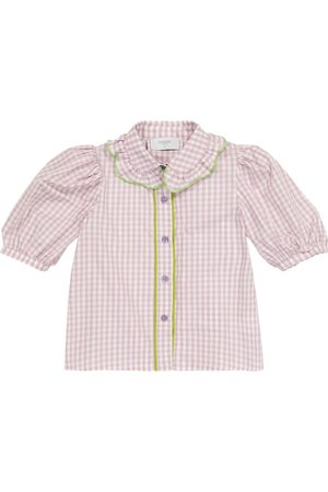 PAADE Cleo gingham cotton blouse