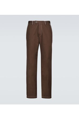 Phipps Dad topstitched cotton pants