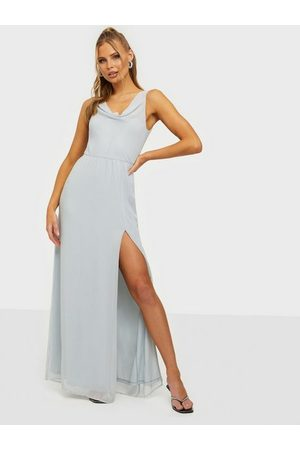 NLY Eve Naiset Juhlamekot - Lovesome Waterfall Gown Dusty Blue