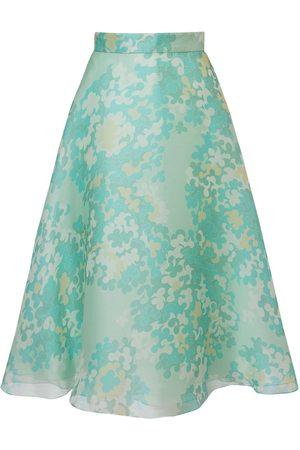 Emilio Pucci Naiset Printtihameet - Printed Silk Organdy Midi Skirt