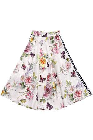 MONNALISA Tytöt Printtihameet - Flowers Print Viscose Skirt