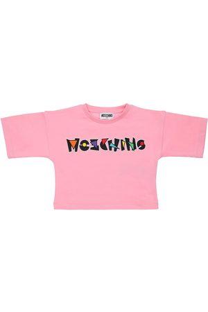 Moschino Tytöt T-paidat - Logo Print Cotton Jersey T-shirt