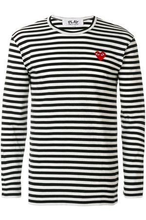 Comme des Garçons Miehet T-paidat - Striped long-sleeve T-shirt