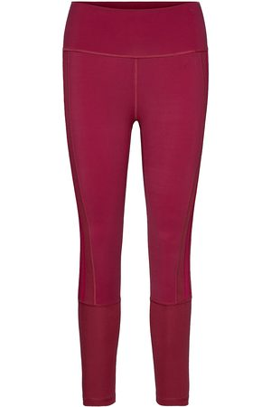 adidas Naiset Leggingsit - Believe This 2.0 3-Stripes Ribbed 7/8 Tights W Running/training Tights Punainen