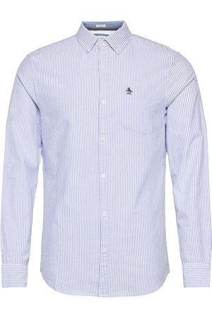 Original Penguin Miehet Bisnes - Long Sleeved Stripe Slim Fit Cotton Oxford Shirt Paita Rento Casual