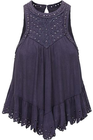 Isabel Marant Lanny Studded Cotton & Silk Top