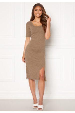Trendyol Naiset Neulemekot - Knit Midi Dress Bej/ M