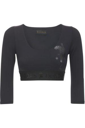 Dundas Long Sleeved Lycra Top W/ Logo Details