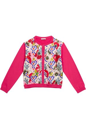 Dolce & Gabbana Printed silk and cotton cardigan