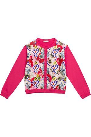 Dolce & Gabbana Printed silk and cotton cardigan