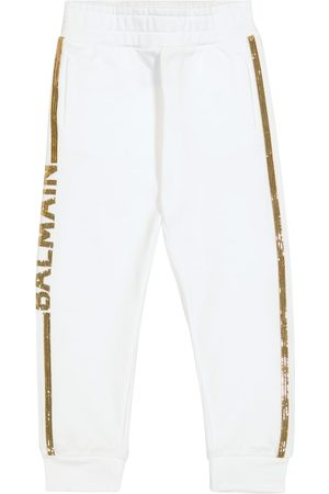 Balmain Sequined cotton sweatpants