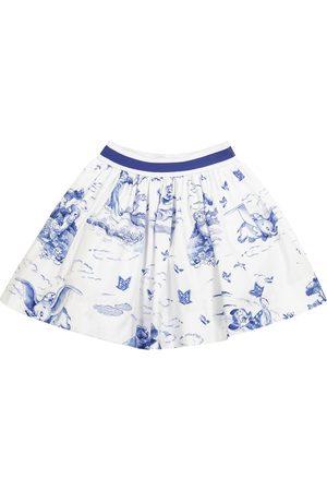 MONNALISA X Disney® printed poplin skirt
