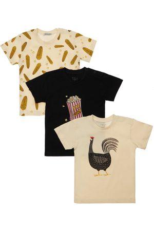 YELLOWSUB Pojat T-paidat - Set Of 3 Printed Cotton Jersey T-shirts
