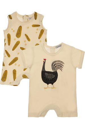 YELLOWSUB Set Of 2 Printed Cotton Jersey Rompers