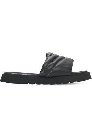 BRUNO BORDESE Leather Slide Sandals