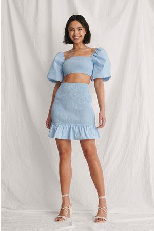 Curated Styles Naiset Minihameet - Smokkiminihame - Blue