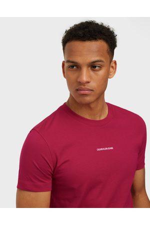Calvin Klein Jeans Micro Branding Essential Ss Tee T-paidat ja topit Red