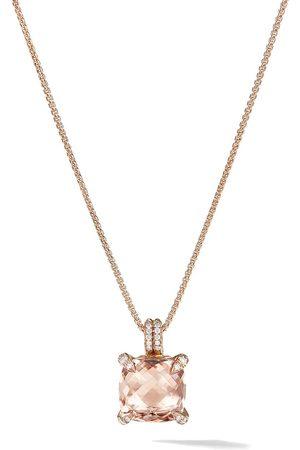 David Yurman 18kt rose diamond Chatelaine pendant necklace