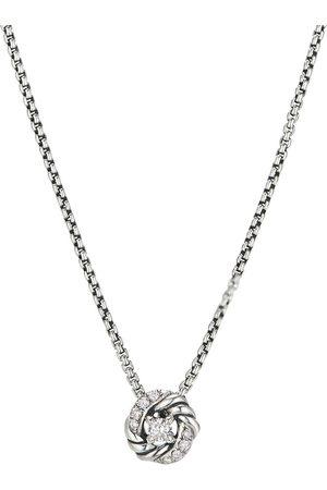 David Yurman Naiset Kaulakorut - 8mm sterling petite Infinity diamond pendant necklace