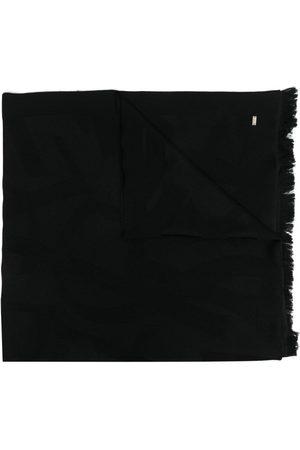 Saint Laurent Monogram plaque wool scarf