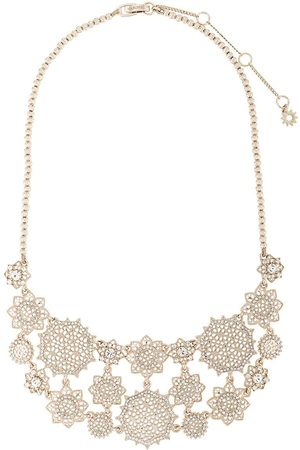 Marchesa Notte Crystal flower charm necklace