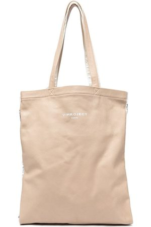 Y / PROJECT Panelled logo-print tote bag