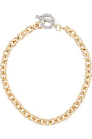 númbering Pavé T-bar necklace
