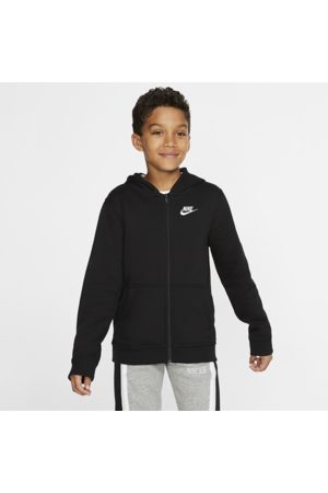 Nike Sportswear Club Older Kids' Full-Zip Hoodie - Black