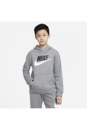 Nike Sportswear Club Fleece Older Kids' Pullover Hoodie - Grey